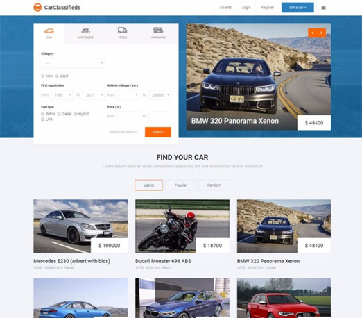 Car Classifieds Joomla template