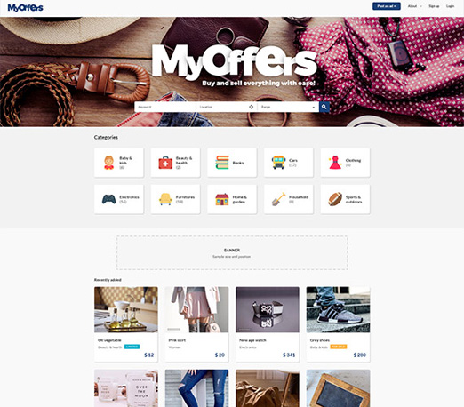 MyOffers - classified advertising website template