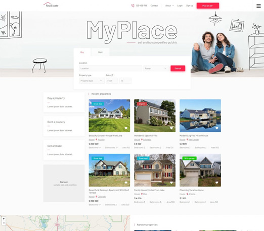 MyPlace - real estate classifieds template for Joomla