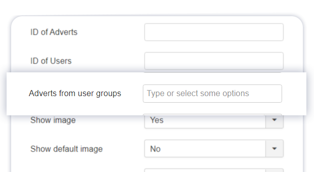 items module new user groups parameter 1