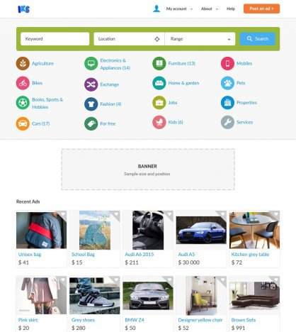 create a classifieds website like olx