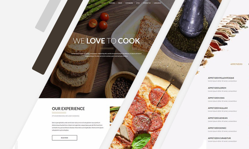 joomla food template