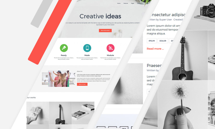 Joomla services template
