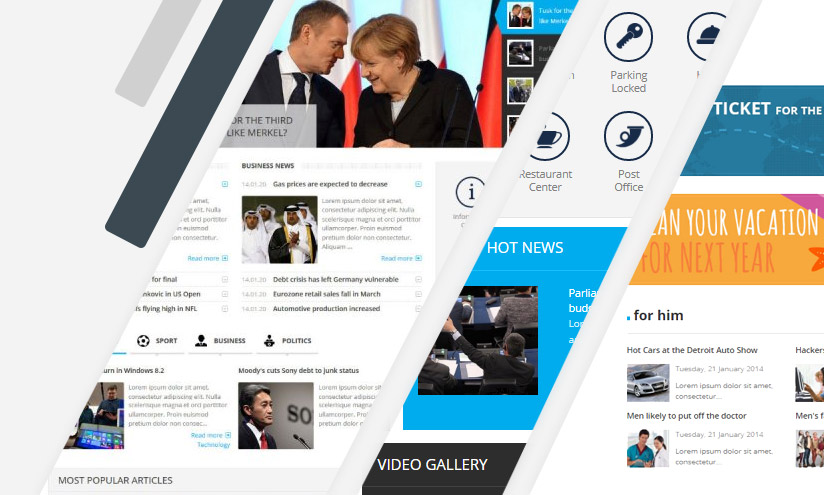 joomla news and classifieds template