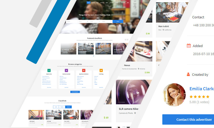Best classifieds Joomla template