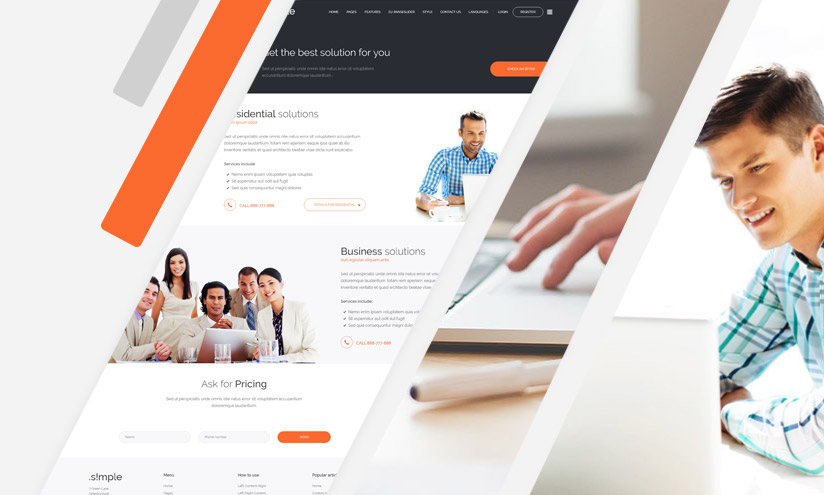 simple Joomla template