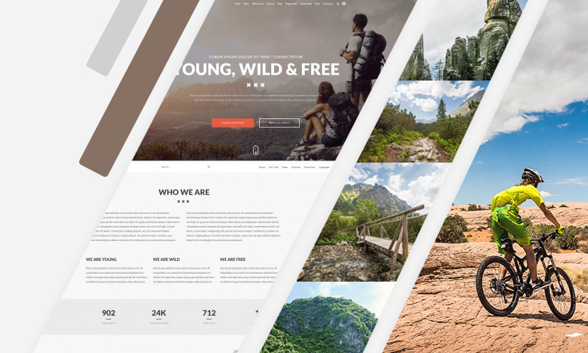 Joomla one page trips template