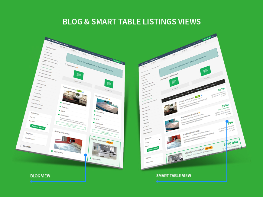classifieds blog and smart table view