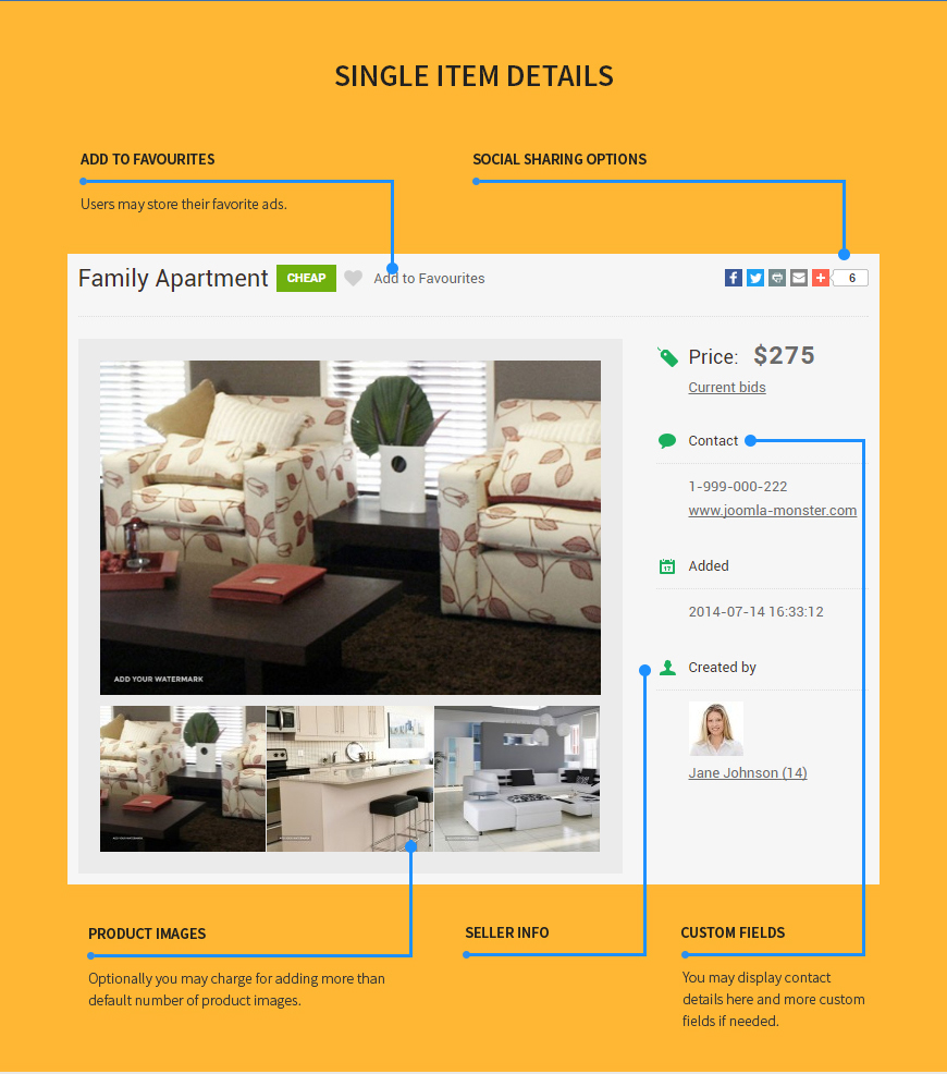 classifieds product view