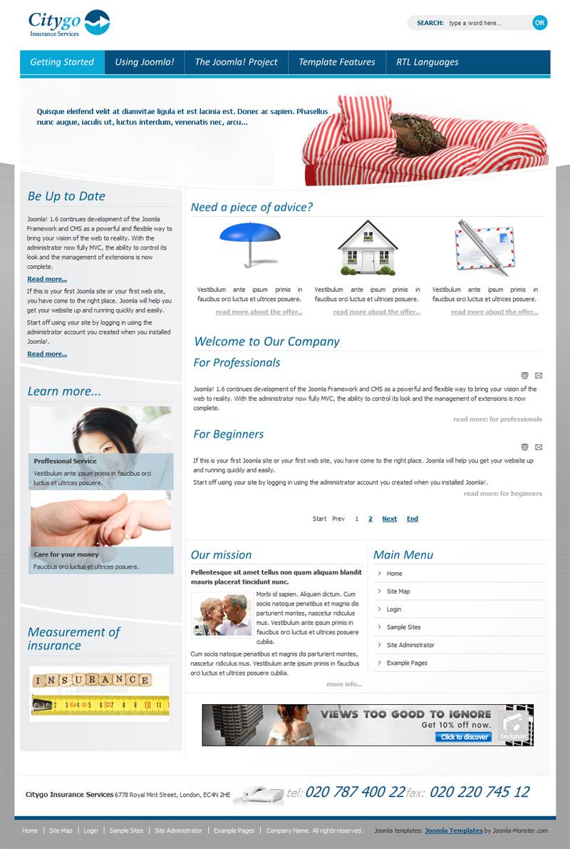 dj insurance joomla template  DJ-Insurance template updated to the Joomla 1.7 version! - Joomla ...