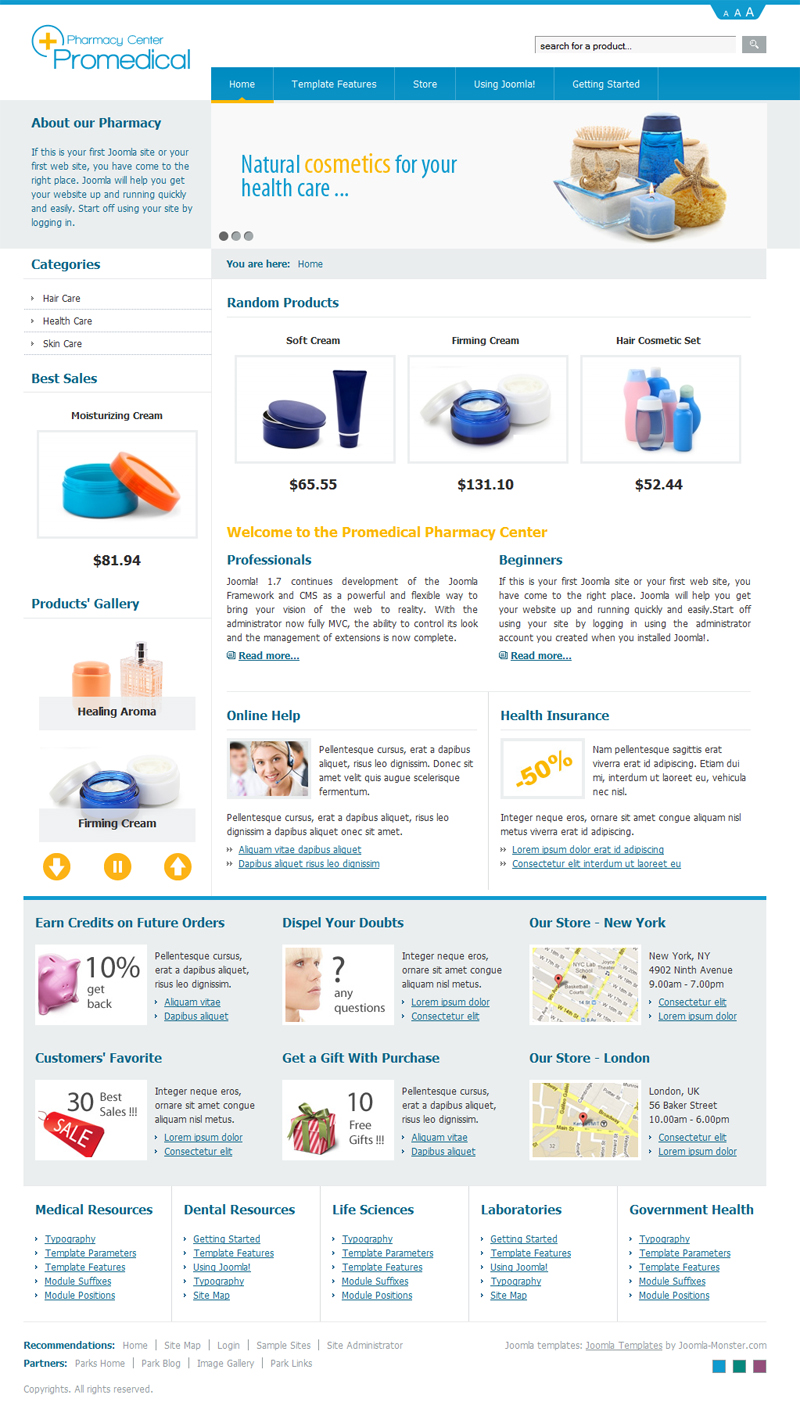 dj-promedical-store, blue template version