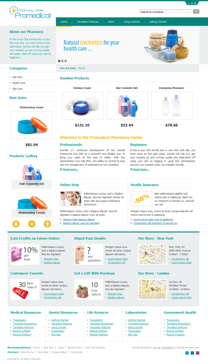 dj-promedical-store, green template version