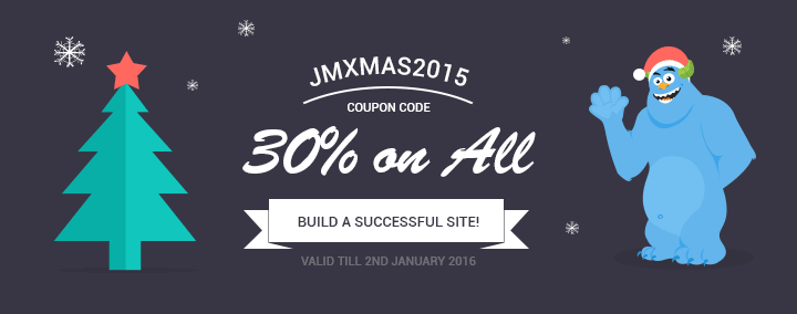 Xmas and New Year sale!!! Buy Joomla template or all templates pack 30% OFF.