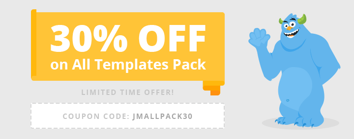 We give all templates for the price reduced by $90 - limited time offer.