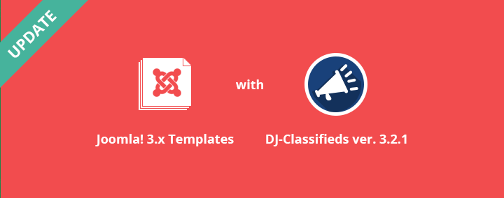 Joomla 3.x templates with DJ-Classifieds ver. 3.2.1 updated.
