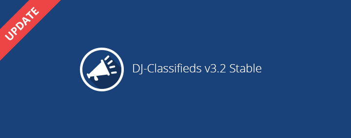 DJ-Classifieds has been updated to 3.2 version.