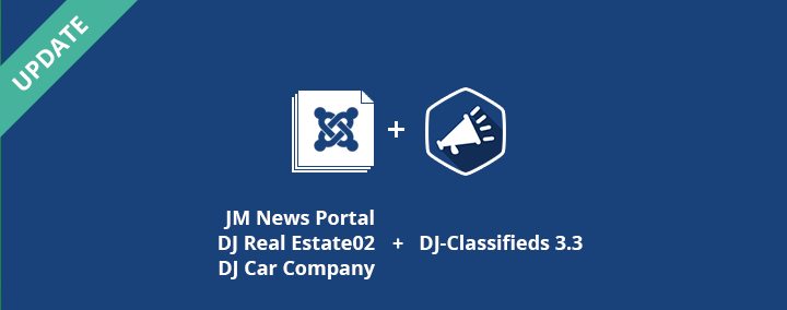The second part of 3 Joomla 3 templates + DJ-Classifieds 3.3.1 already released!