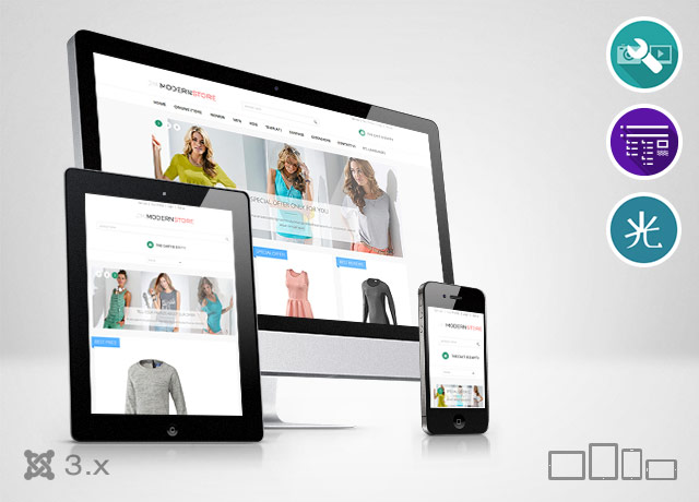 JM Modern HikaShop - multipurpose and responsive Joomla 3 template with shopping cart extension