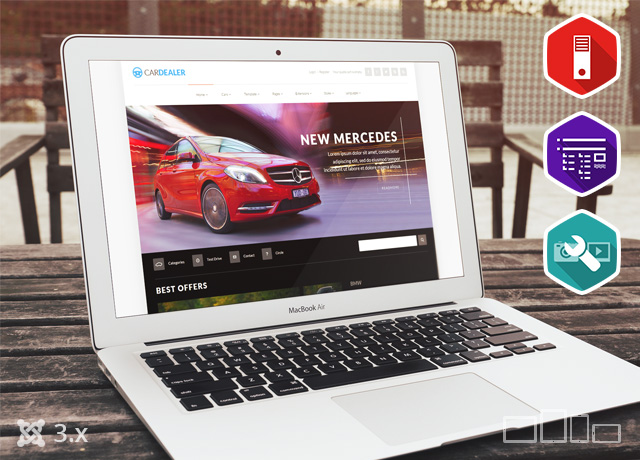 JM Car Dealer - multipurpose responsive Joomla 3 template for online catalog