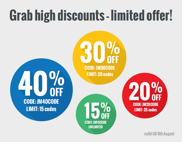 Grab high discounts - limited offer!