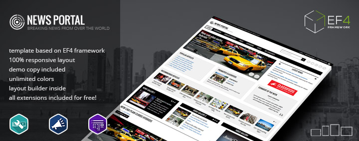 JM News Portal - responsive Joomla 3 template for news and magazine websites