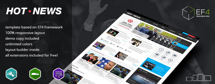 JM Hot News - News & Magazine Joomla 3 Template