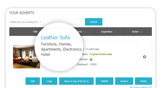 showing the items full category path in user items view 1