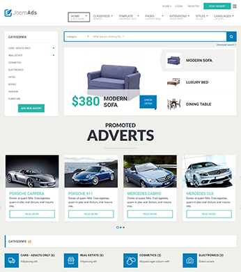 multipurpose classifieds joomla template